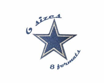 Dallas Cowboys Inspired Machine Embroidery Designs in 8 formats and 6 sizes