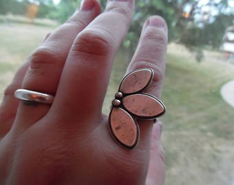 Made-to-order, All Sterling Silver Leaf Ring