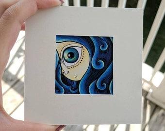Blue eye, Blue hair, The little print