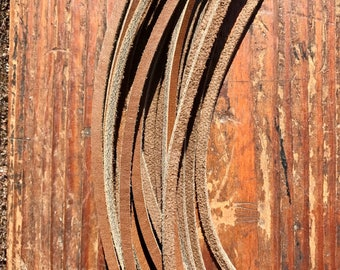 """12 Leather Laces 1/8"""" X 72"""" in Havana"""