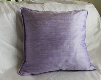 Lilac Dupioni Silk Pillow Cover
