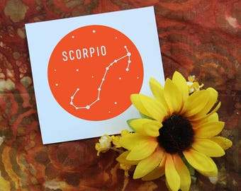 Zodiac Sign Vinyl Decal | Scorpio