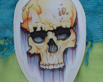 """Aged Skull 6"""" Decal"""