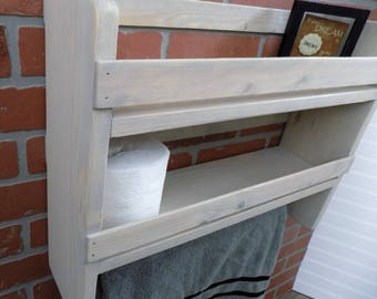 Rustic Bathroom Shelf / Towel Bar / Rack / Storage