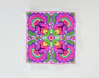 DIY Piece Of Embroidered Fabric Tribal Textile Crafts