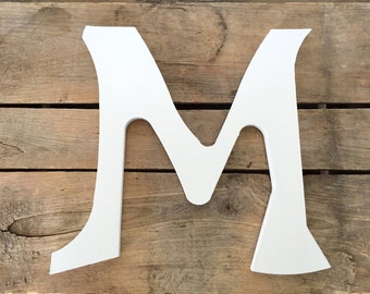 Large Wooden Letter, Large White Letter, 11 Inch Letter, Wedding Decor, Photography Prop