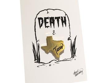 DEATH & TAXES Pin