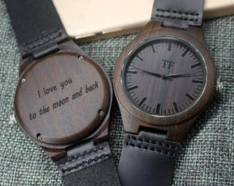 Groomsmen Gifts Wooden Watch for Men Wood Watch Personalized Watch Birthday Gifts for Boyfriend Anniversary Gifts for Him Groom Gifts Idea