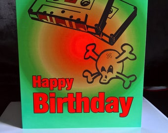 Old Skool Birthday Card