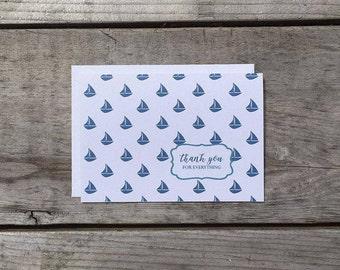 Thank You Card Set | Sailboat - Set of 8