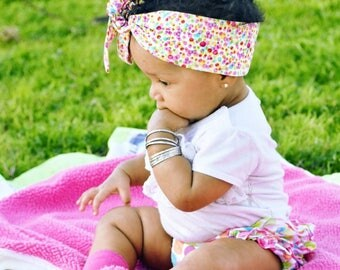 Matching Headbands- Multi Dottie Headband; Polka Dot Headband; Polka Dot Headwrap; Polka Dot Bow; Baby Headwrap; Toddler Headwrap; Headwrap