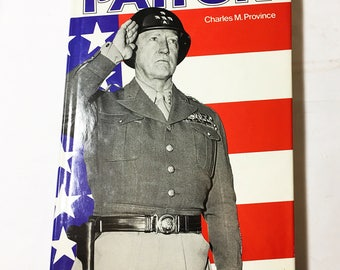 Patton book.  The Unknown Patton by Charles Province circa 1983.  General Patton history book.  Vintage World War I II.  WWI WWII