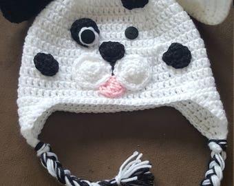 Dalmation Crochet Hat