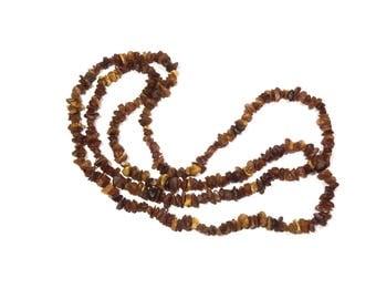 "60"" 3,3 oz Natural Baltic amber necklace, Vintage amber necklace, Raw amber necklace, Hand made necklace, Boho necklace, Amber necklace 70s"