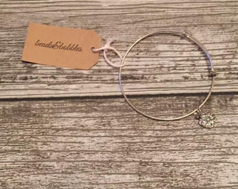 sparkly silver bracelet