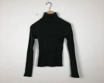Vintage Turtleneck Sweater Size Small, Olive Green Turtleneck