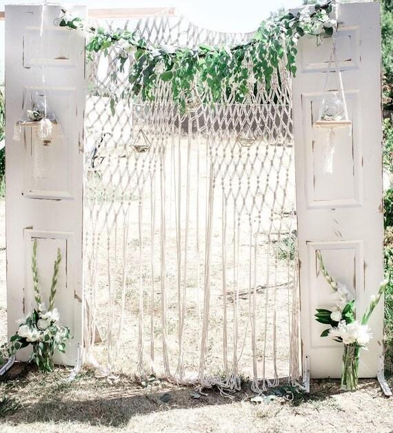 Macramae Ideas Wedding Arch: Macrame Wedding Arch Bohemian Wedding Macrame Backdrop