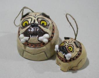 Ceramic bells, dog bells, pug, Ceramic pug, bell pug, fun dogs, Bells, Dogs, Gift Dog, Dog Breed Pug, Funny Puppy, Ceramic Puppy, bell, dogs