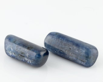 2 blue Kyanite stones, blue crystal stones, Smooth Kyanite gemstones, Throat Chakra, all chakra crystal, communication stone, Crystals
