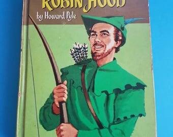 Vintage Illustrated Robin Hood Book - Colour - Howard Pyle