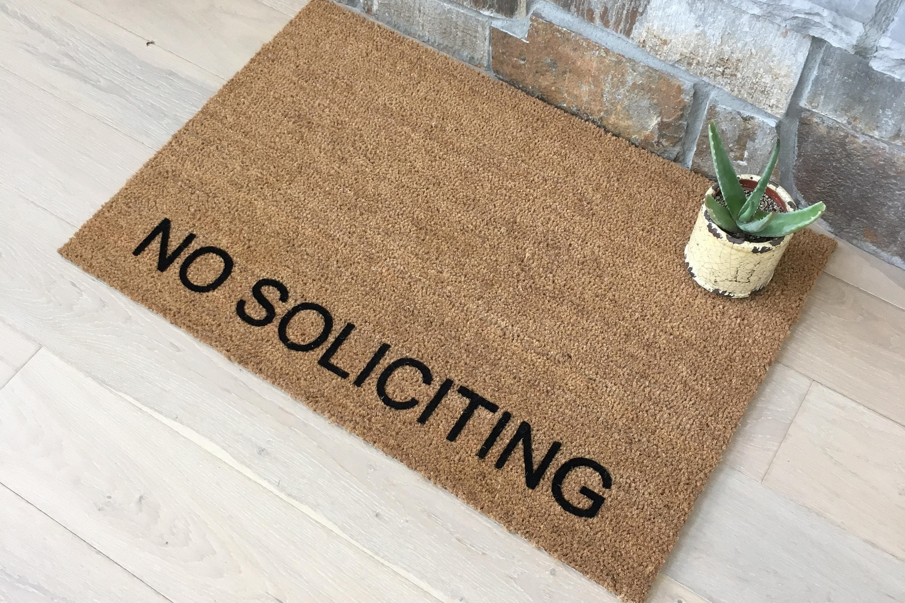 Attractive Doormats / Welcome Mat / Custom Doormat / No Soliciting Doormat / Business  Doormat / Unique Door Mats / Entry Doormat / No Soliciting Please