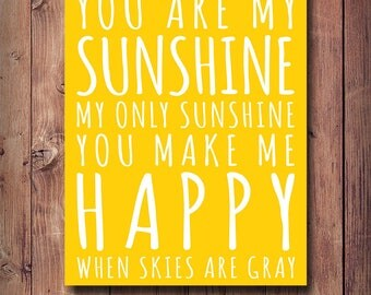 50% OFF You Are My Sunshine Print, Kids Room Decor, Printable Kids Gift, Nursery Print, Nursey Poster, Sunshine Print, Typography, Wall Art