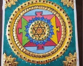 Chakra Print Tanjore painting