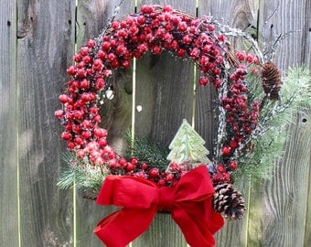 Medium Christmas-winter wreath