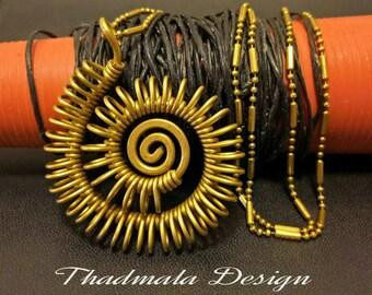 boho brass wires pendant