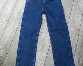90s Levis  505 / 30 / 6-8 / Unhemmed Deconstructed Hem Cropped / Straight Leg / 30 x 28.5