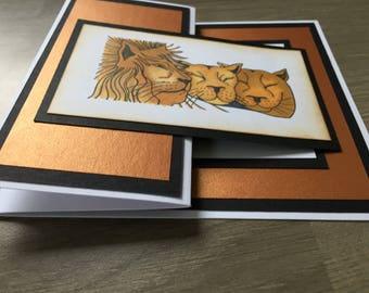 Birthday Card,Lions, makes an ideal card for a man