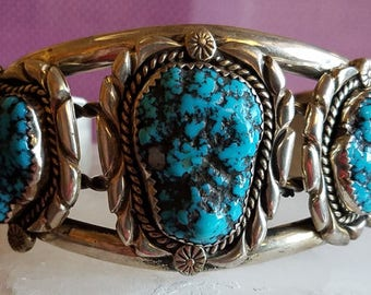Turquoise and Sterling Silver Cuff Bracelet - 301