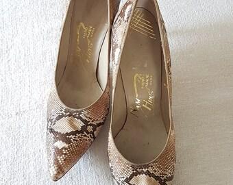 Snake Skin shoes vintage