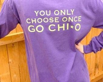 Chi Omega Long Sleeve
