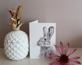 Rabbit greetings card | greetings card | rabbit illustration | birthday card | easter card | bunny card