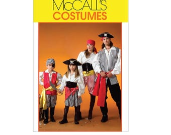 McCall's 4952 (MP268) - Misses'/Men's/Children's/Boys'/Girls' Pirate Costumes