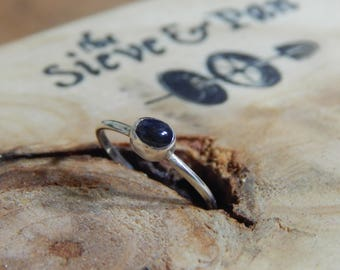 Sterling Silver NSW Sapphire Ring