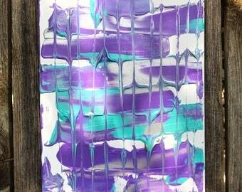 8X10 abstract acrylic
