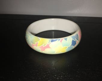 1990's Tropical Flower Bangle