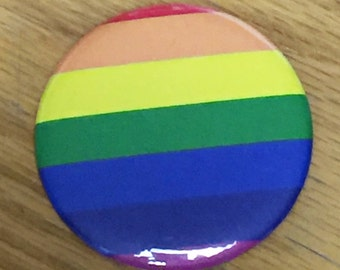 Rainbow-Pride Button 2.25 inch-New!