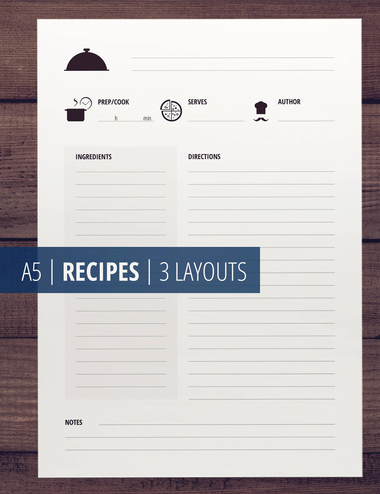 a5 printable recipe cards printable cook book recipe pages and