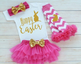 Baby Girl Easter Shirt, Baby Girl Easter, Baby Easter Bodysuit, Cute Bunny Outfit, Easter Outfit, My First Easter, Baby Girl Easter Gift,
