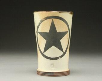 Handmade Stoneware Star Tumbler