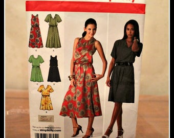 Vintage Simplicity Pattern #2929 Easy to Sew Misses or Plus Size Dresses & Tie Belt, Size AA