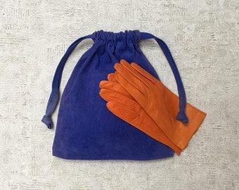smallbag Royal Blue Suede leather - unique -