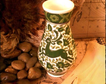 Arris Ceramic Decorative Vase/ Bud Vase, Hand Made in Greece, Beautiful Ceramic and Tile Artistry