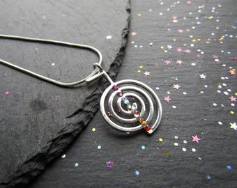 Cho Ku Rei Symbol Necklace with Chakra Crystals, Energy Necklace, Reiki Necklace, Reiki Symbol Necklace, Cho Ku Rei, Reiki, Chakra Necklace