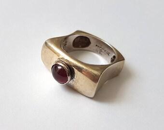 Garnet Ring - Silver Ring - Garnet Silver Ring - Garnet Stone - Garnet Jewelry
