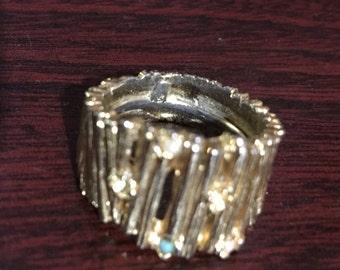 Gold Gem Ring Size 2cm
