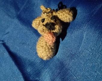 Yuri on Ice Makachin Crochet Keychain